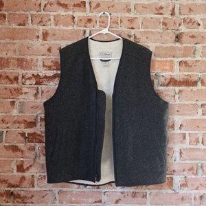 L.L. Bean Fleece-Lined Wool Vest
